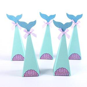 Sirena Box della festa di compleanno decorazioni di favore Borse scatola di carta fai da te Baby Shower Boy Girl Sirenetta di caramella CT0363