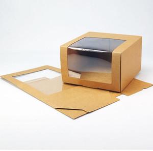 Chapeau papier Boîte 50pcs avec fenêtre PVC Casquette Beret Chapeau de fête Boîtes d'emballage Emballage cadeau Boîte SN3391