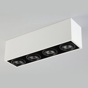 NEW White Grid Grille Light 12W LED Dimming rectangle Ceiling Light Downlight Outfit Ceiling Free hole Bezel Light