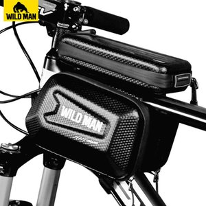 WILD MAN 6.5in Bicycle Bags Front Frame MTB Bike Bag Waterproof Touch Screen Top Tube Mobile Phone Bag For Cycling Accessories MX200717