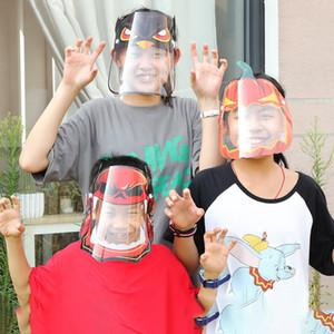 Мода Anime Kids Party Face Shield Дизайнер лица Маски Очистить Мультфильм Шаблоны Рождество Хэллоуин Новый год Косплей Costum Защитные маски