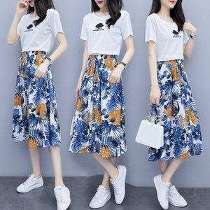 3iQLq qwPDz 2020 été coréenne imprimé xia mode nouveau Qun 2020 ji nouvelle jupe à la mode coréenne imprimé xia ji Qun jupe d'été