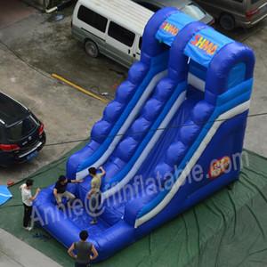 Personalizado Durable Grande inflável água slides com Piscina Commercial Use Adulto inflável Water Slides encerado do PVC For Kids w / ventilador de ar