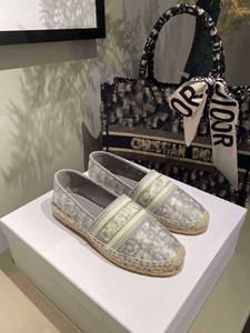 Nueva lujo Obliques diseñador de las mujeres de la plataforma Zapatos Alpargatas Alpargatas de impresión zapatilla de bordado Vamp mujeres Rope zapatos