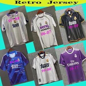 Real Madrid Retro Futbol Forma GUTI Ramos McManaman 13 14 15 RONALDO Zidane Beckham 06 07 RAUL Robinho 1999 00 RETRO Futbol Gömlek