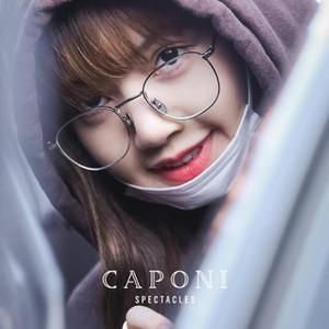 CAPONI reiner Titan Rahmen Glas-Frauen Art und Weise freie Gläser Sqaure Brillen erhältlich Für Anpassen Prescripiton T31015
