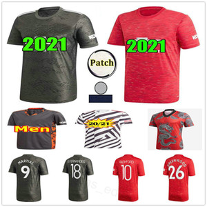 2020 2021 Манчестер Линчард Футбол Джетки Pogba United B.fernandes Rashford Maritial Custom Домашний Домашний Человек Женщины Дети 20 21 Футбольная Рубашка