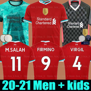 20 21 Maglia da calcio LVP Liverpool Mohamed M. Salah 2020 2021 maglia da calcio VIRGIL MANE FIRMINO KEITA MILNER SHAQIRI ORIGI portiere uomo + kit per bambini
