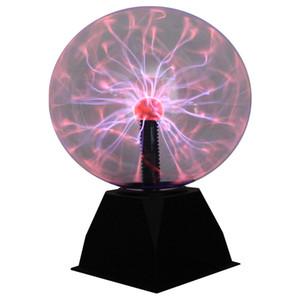 Novità magica Plasma Ball Luce di notte della lampada elettrica Light 4 5 6 8 pollici Lampade da tavolo Sfera regalo di Natale dei bambini di vetro della lampada al plasma
