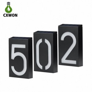 LED Solar House Number 6LEDs Waterproof doorplate Solar Wall Light Montado Digital Hotel LED Porta House Endereço Número Plaque p00Y #