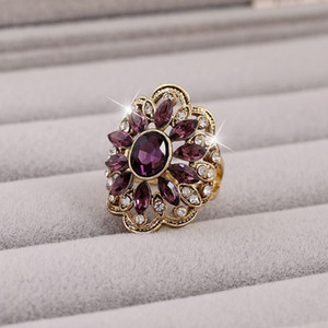 Jewelry Masonic Women Carter Cz Diamond Ring Love For Fashion Wedding Set 2016 Crystal Colorful Rings Finger Flower beauty888 Sfevy
