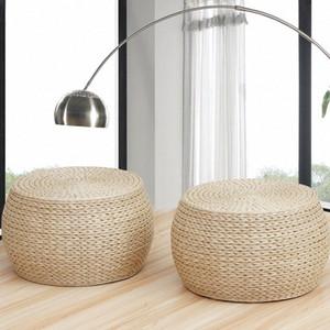 Rush Herbe Ronde étage Coussins futon japonais méditation Coussin Seat Tabouret Cercle Épaississement ba6n #