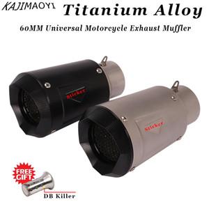 gp-proje Titanyum Alaşımlı için DB katil Motosiklet Egzoz Boru Muffler ile 60 mm motosiklet borusu egzoz