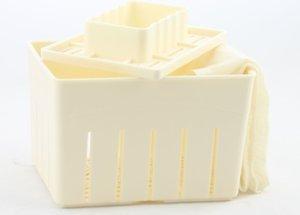 Tofu 3pcs plastique Presse Mold bricolage maison Tofu Maker Kit de moule En appuyant sur + fromage tofu outil de cuisine Tissu