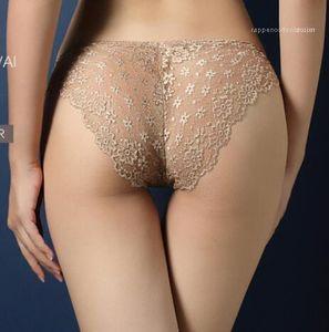 Sexy Confortável Underwear Briefs Baixo Mulheres cintura Luxury Designer Calcinhas Floral Lace