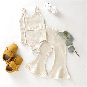Baby Girl Clothes sem mangas Body Romper Top bowknot Calças Calças de algodão menina Set Equipamento do bebê Roupa Set menina Set Suit