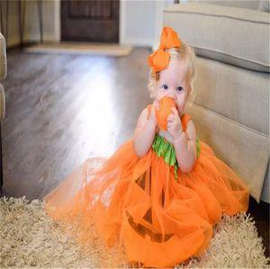 Хэллоуин принцесса костюм Тыква ведьма Cosplay платье Дети Одежда Девочка Halloween Волшебница платье партия одежда E9201