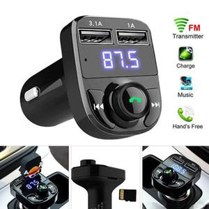 MP3 Player FM Transmitter X8 Aux modulatore vivavoce Bluetooth Car Kit Car Audio con 3.1A Quick Charge Dual USB Car Charger MQ100