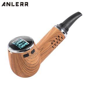 100% original Anlerr Pipe Vape seco de hierbas vaporizador portátil Pen Kit de pantalla OLED cámara de calentamiento de cerámica sabor puro y grande de vapor al horno completa