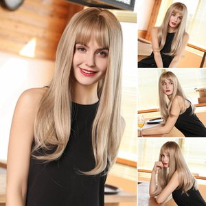 Popular Wig Fashion Woman With Bangs Long Straight Hair Wig Wig Realistic And Natural Hair Wigs