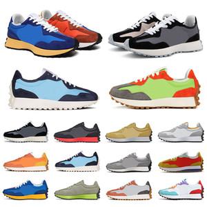 new balance shoes 327 shoes mens sneakers koşu ayakkabıları siyah Kireç Yeşil Gri Beyaz Mavi Turuncu bayan spor eğitmeni moda açık boyutu 36-45