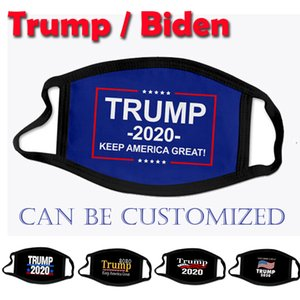 Designer-Gesichtsmasken Donald Trump Biden 2020 Präsident Wahl Erwachsener Kind Mode Mundmaske USA 3D-Druck