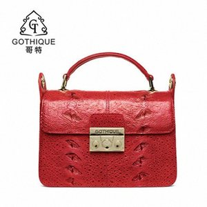 gete Imported sturgeon skin lady bag women handbag genuine leather one shoulder bag cross body small square fashionable Xdtv#