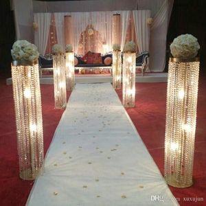 6pcs lot New arrival 120cm tall 20cm diameter acrylic crystal wedding road lead centerpiece event party decoration