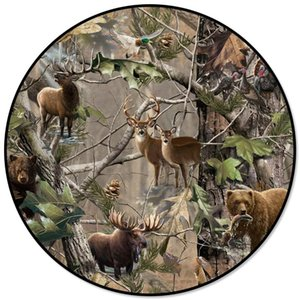 Tree Animal Elk Polar Bear Printed Large Round Carpets For Living Room Bedroom Area Rugs Soft Home Decor Rug Kitchen Mats