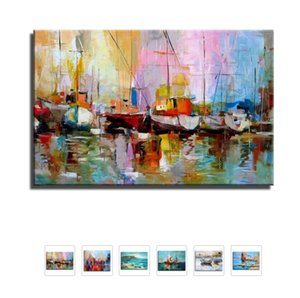 Ручная роспись холст картины стены искусства Абстрактный пейзаж маслом Главная Decoeation Исполнитель Painted Гостиная Стена No Frame T191202