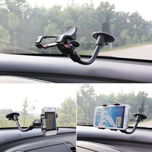 Universal Cars Windshield Mobile Phone Mount Bracket Holder Stand for iPhone 5 6 7 Samsung S7 S6 edge Retail Package