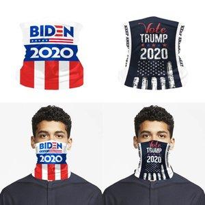 Trump Yüz Bandana Biden Boyun tozluk Eşarp Balaclava Tüp Şapkalar Windproof Sorunsuz Yüz Kapak Maskeleri OOA8368
