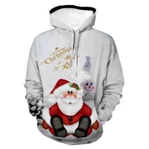 Christmas Snowman Print Pullover Christmas Hoodie Christmas cosplay costume Winter thick hooded sweater 3D Snowman Hoodie