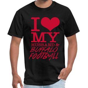 Buffalo Kişiselleştirilmiş - Doğal gömlek kadın ofis show tv t I Love My Husband Buffalo Football vuruş s-6XL