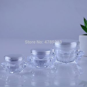 10 20pcs Diamond Small Bottle 5g 10g 15g Cosmetic Empty Jar Pot Eyeshadow Lip Face Cream Sample Container Free Shipping