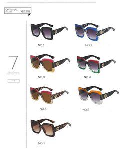 UV400 moda kadın mektup koruma gözlük karışımı rengini sürüş toptan tam çerçeveli kare güneş gözlüğü çok kaliteli erkekleri güneş gözlüğü