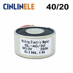 D40mm * H20mm-Holding-Elektromagnet Hebe 25kg / 55lbs / 250N Magnet Sucker Elektromagnet DC 6V 12V 24V Nicht-Standard-Custom qHMO #