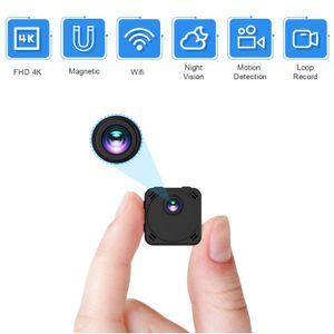 HiLEME عالية الوضوح 4K البسيطة كاميرا دعم 128G التحكم عن بعد كاميرا صغيرة 170 درجة زاوية واسعة كشف الحركة كاميرا صغيرة