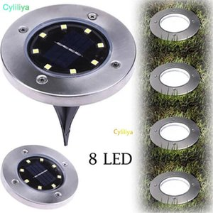 Cgjxsip65 Waterproof 8 Led Solar Outdoor Ground Lamp Landscape Lawn Yard Stair Underground Buried Night Light Home Garden Decoration (Hl )