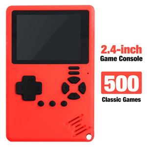 2020 New Built-in 500 Games 180mAh Battery Retro Video Handheld Game Console 2.4 Inch Color Screen Game Player