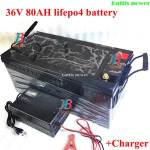bateria carregável 36V 80AH LiFePO4 para 1500w veículo ebike de scooter carrinho Inversor de golfe Carro elétrico empilhadeira + Carregador 10A