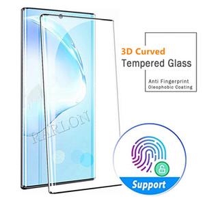 لسامسونج ملاحظة 20 الترا 3D منحني شاشة حامي حالة فقاعة الحرة ودية بصمة مسة الزجاج المقسى لغالاكسي S20 S10 زائد 10 9