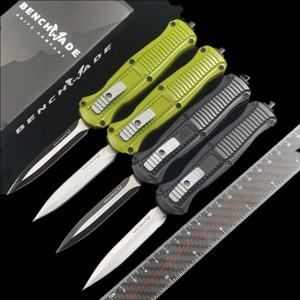 벤치 메이드 미니 BM 3300 3350 이교도 더블 액션 자동 나일론 피복과 D2 스틸 EDC 포켓 전술 기어 생존 칼을 칼