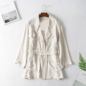 Women's Jacket 20SS TOP Quality Autumn Winter High Street Elements Casual Fashion Female Classical Windbreaker Size : S-L