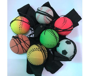 2020 new arrivaL Random 5 Style Fun Toys Bouncy Fluorescent Rubber Ball Wrist Band Ball
