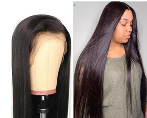 Straight Non-glue Lace Front Human Hair Wig, Pre-sold To Black Women 28 30 Inch Full 360 Degree Front Wig