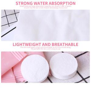 50pcs / Lot comprimido de viagem de algodão toalha de rosto portátil toalha guardanapo macio perfeita Tissue Cleaning Wipes