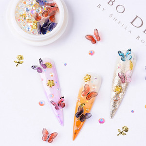 Nail Art Sticker 3D Butterfly Shaped Fake Nail DIY Manicure Design Tips Glamour Decoration