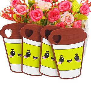 Non toxique Eco personnalisée silicone tasse de café Teether bricolage bébé Douche Chewing Pendentif infirmière sensorielle Teething Pacifier Toy Gfit BPA