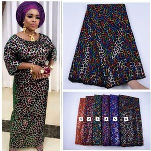 2020 2020 New Design Velvet With Sequins African French Velvet Lace Fabric High Quality Nigerian Velvet Lace Fabric For Garment BDY9#